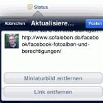 Facebook App: Wie man einen Link teilt