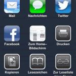 iOS 6: Wie teile ich einen Link aus Safari in Facebook