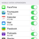 iOS 7: mobilen Datenverbrauch einzelner Apps anzeigen