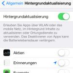 iOS 7: Die Hintergrundaktualisierung