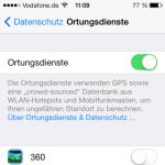 iOS 7: Ortungsdienste