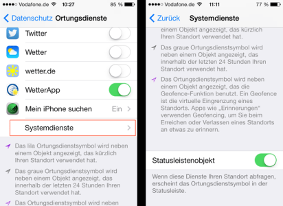 Systemdienste_Statusleiste