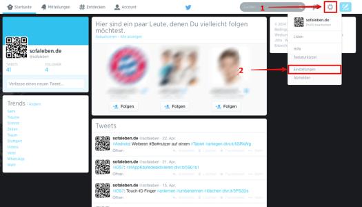 Twitter Passwort ändern Einstellunge