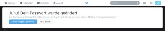 Twitter Passwort ändern Bestätigung