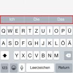 iOS: Tastatur Wortvorschläge deaktivieren