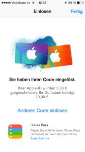 Apple_Guthabenkarte_einloesen_Guthaben_gutgeschrieben_2