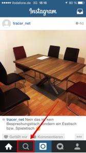 Instagram Suchfenster öffnen