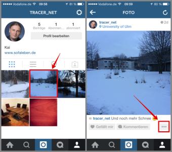 Instagram Bild nachträglich bei Facebook und Twitter veröffentlichen 01