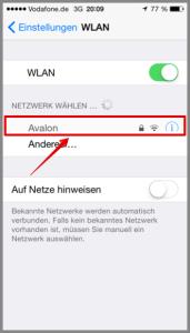 iPhone entsprechendes WLAN auswählen