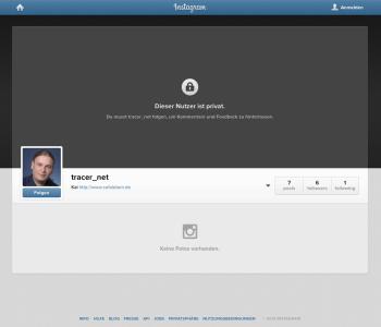 privates Instagram Profil im Webbrowser