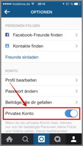 Instagram Privates Konto aktivieren