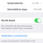 iOS: Wie Du WLAN Assist deaktivieren bzw. aktivieren kannst